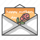 letter, mom, mother, mother's day icon