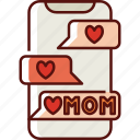 phone, mothers day, mother, mom, love, family, chat