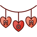 decoration, mothers day, mother, mom, love, family, woman icon