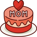 cake, mothers day, mother, mom, love, family, celebration icon