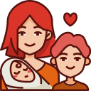 mom, children, mothers day, mother, love, family, baby icon