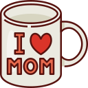 mug, mothers day, mother, mom, love, family, woman icon