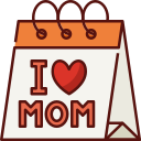 calendar, mothers day, mother, mom, love, family, day icon
