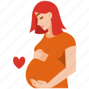 pregnant, mothers day, mother, mom, love, family, woman icon