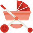 stroller, mothers day, mother, mom, love, family, baby icon