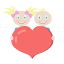 kids, mother's day, mothers day, together icon