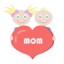 kids, mom, mother's day, mothers day, together icon