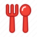 appliance, eat, food, fork, kitchen, restaurant, spoon icon