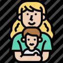 motherhood, son, hug, love, family