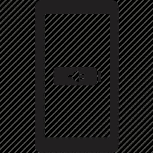 charging, phone icon