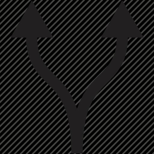 direction, split icon