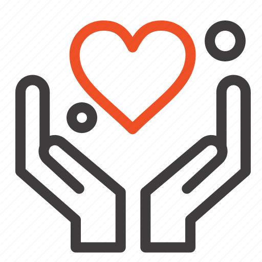 Hand, heart, love, motivation icon - Download on Iconfinder