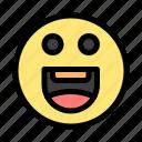 emojis, happy, motivation icon