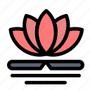 chinese, flower, massage, spa