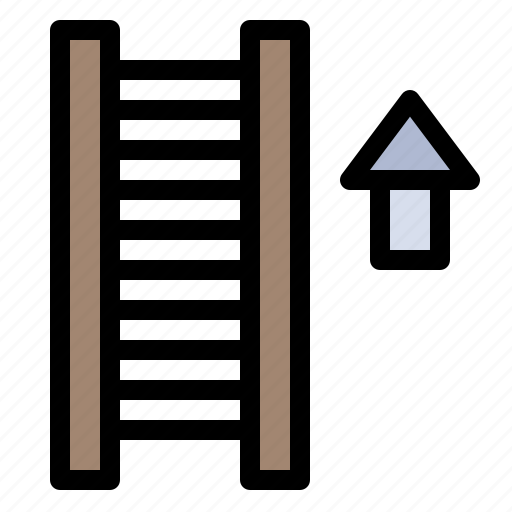 Arrow, ladder, stair, staircase icon - Download on Iconfinder