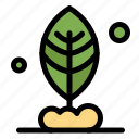 leaf, motivation, plant icon