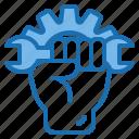 car, motor, person, service, shop, technician, vehicle icon