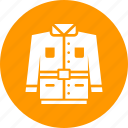 clothes, clothing, dress, gear, jacket, safety, wear icon