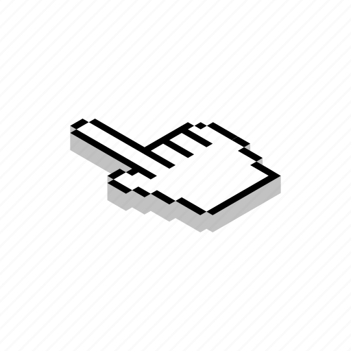 computer, cursor, isometric, mouse, pointer, technology, work icon