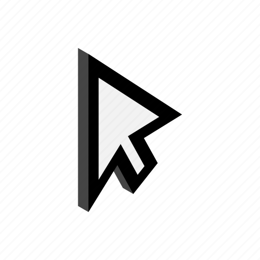 computer, cursor, isometric, mouse, pointer, replacement, technology icon