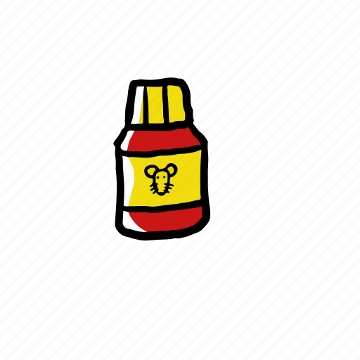 hand drawn, mouse, trap icon