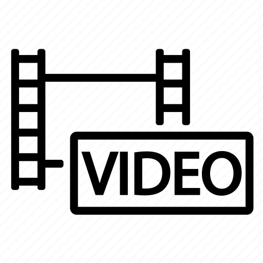 film, movie, video, video film icon