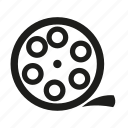 movie, movie reel, reel icon