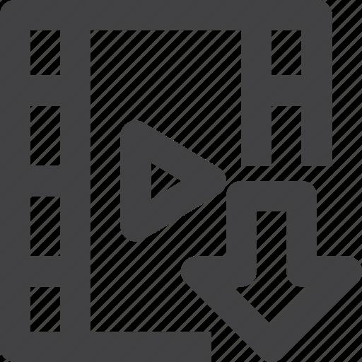 clip, download, film, movie icon