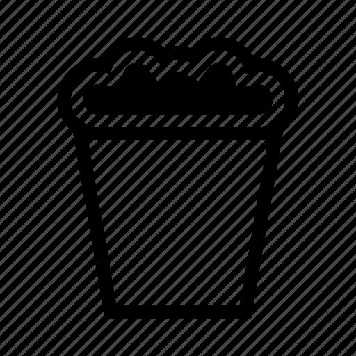 bucket, cinema, corn, fastfood, food, popcorn, snack icon