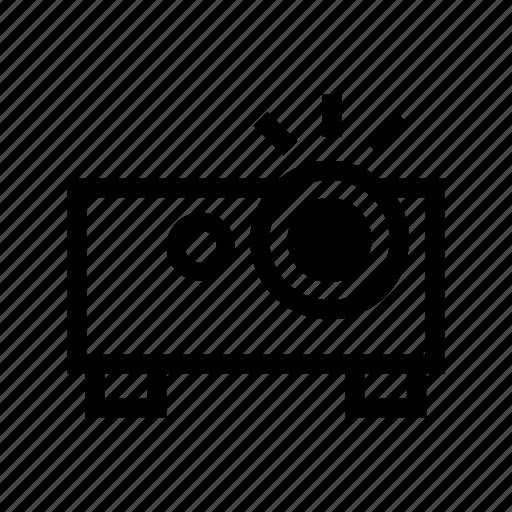 digital, equipment, movie, presentation, projector, technology, theater icon
