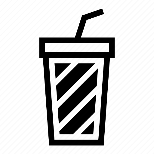 beverage, cola, drink, glass, refreshment, soda, straw icon