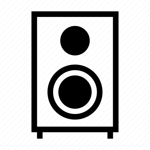 audio, equipment, loudspeaker, professional, sound, speaker icon
