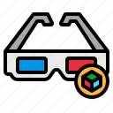 3d, accessory, cinema, glasses, movie