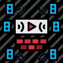 audio, cinema, sound, speaker, stereo