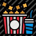 box, cinema, movies, popcorn, snack