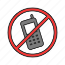 mute, no sound, phone, quite, restricted, rules, silence icon