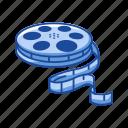 cinema, film, filmstrip, flicks, movie, video, wheel icon