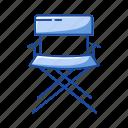 chair, cinema, director's chair, folding chair, furniture, movie icon