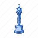 achievement, award, best, oscars, statue, trophy, winner