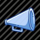 flicks, horn, loudspeaker, megaphone, movie, wooden megaphone