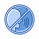 cinema, movie, no sound, quite, rules, silence, violation icon