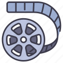 entertainment, movie, film, cinema, video, filmstrip icon