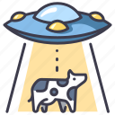 movie, ufo, sci, cow, fi, futuristic, alien