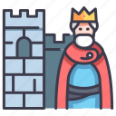 entertainment, king, movie, film, castle, history icon