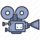 camera, cinema, film, media, movie, production, video icon