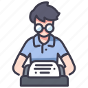 paper, story, typewriter, write, writer icon