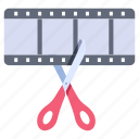 creative, editing, editor, movie, production, software, video icon