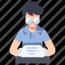 paper, story, typewriter, write, writer