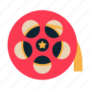 cinema, film roll, film strip, movie, reels icon