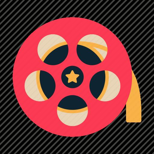 cinema, film roll, film strip, movie, reels icon